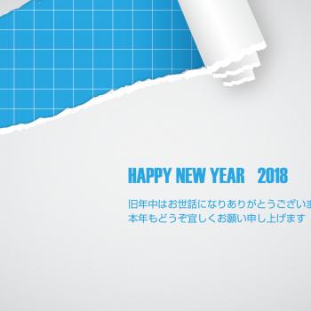 無料 2018年 デザイン年賀状 シンプル