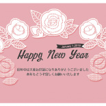 無料 2019年 おしゃれ年賀状 レース