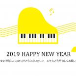 無料 2019年 デザイン年賀状 音楽