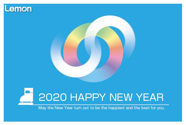 無料 2020年 デザイン年賀状 スケート