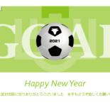 無料 2021年 デザイン年賀状 サッカー