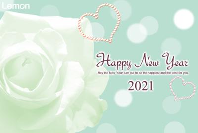 無料 2021年 おしゃれ年賀状 薔薇
